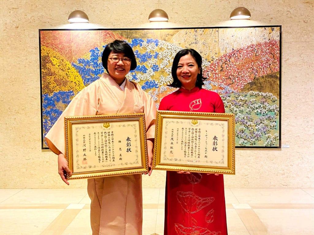 More Production Vietnam共同代表のレ・ティ・トゥ・ヒエンと勝恵美
